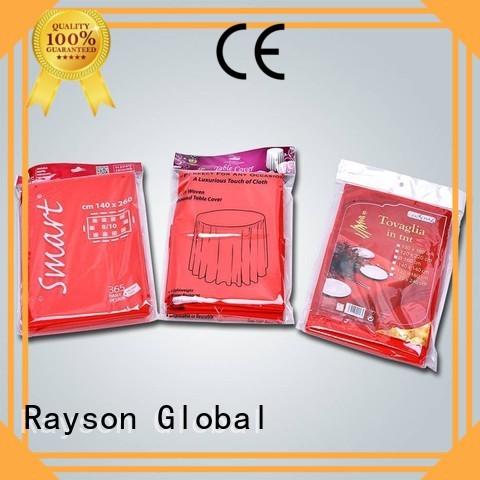 rayson nonwoven,ruixin,enviro Brand adequate 47gr non grade non woven tablecloth