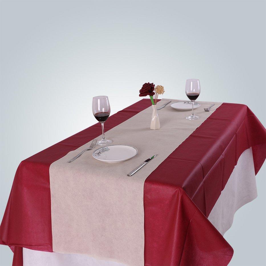 Heimtextilien nicht gewebte Tischdecke Lieferant / wasserdicht Tischdecke