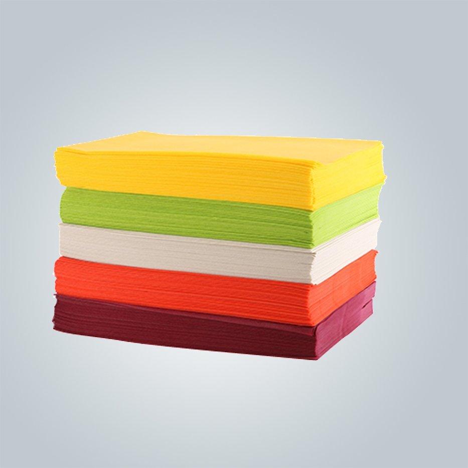 Spunbond no tejida mantel de corte máquina tnt / cubierta de tabla de 1 m x 1 m