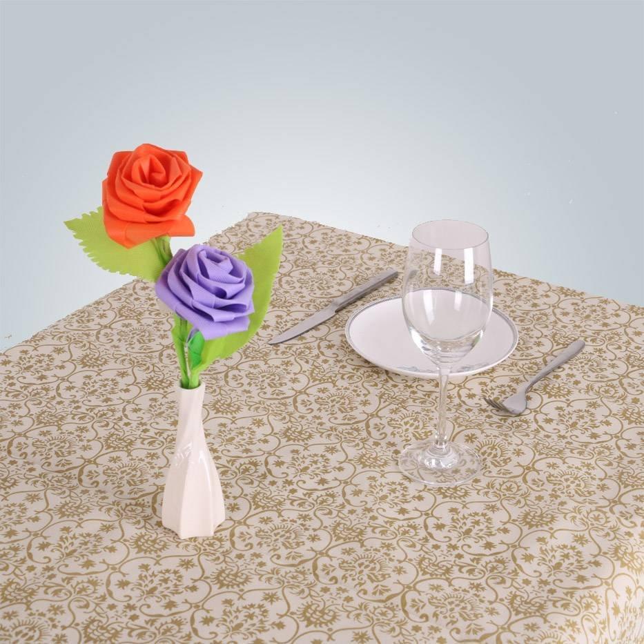 Tissu non-tissé pp table tissu mariage jetable nappes