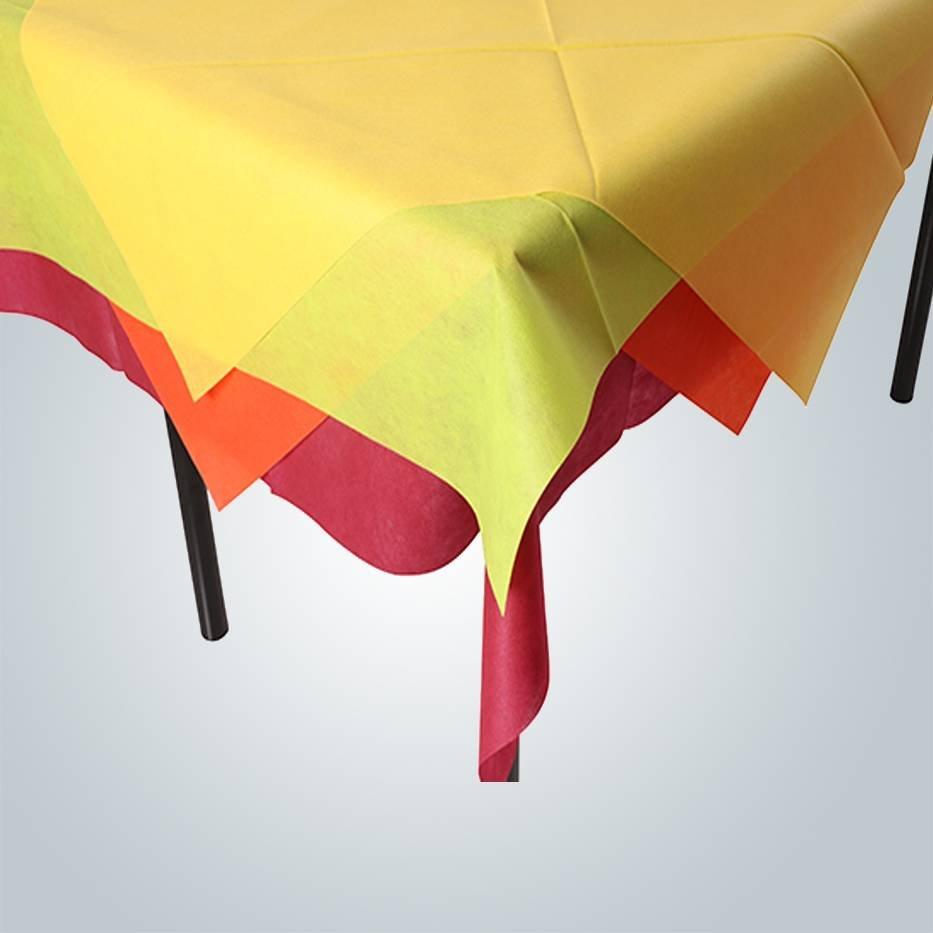 rayson nonwoven,ruixin,enviro Machine cutting tnt spunbond non-woven tablecloth / 1m x 1m table cover Non Woven Tablecloth image180