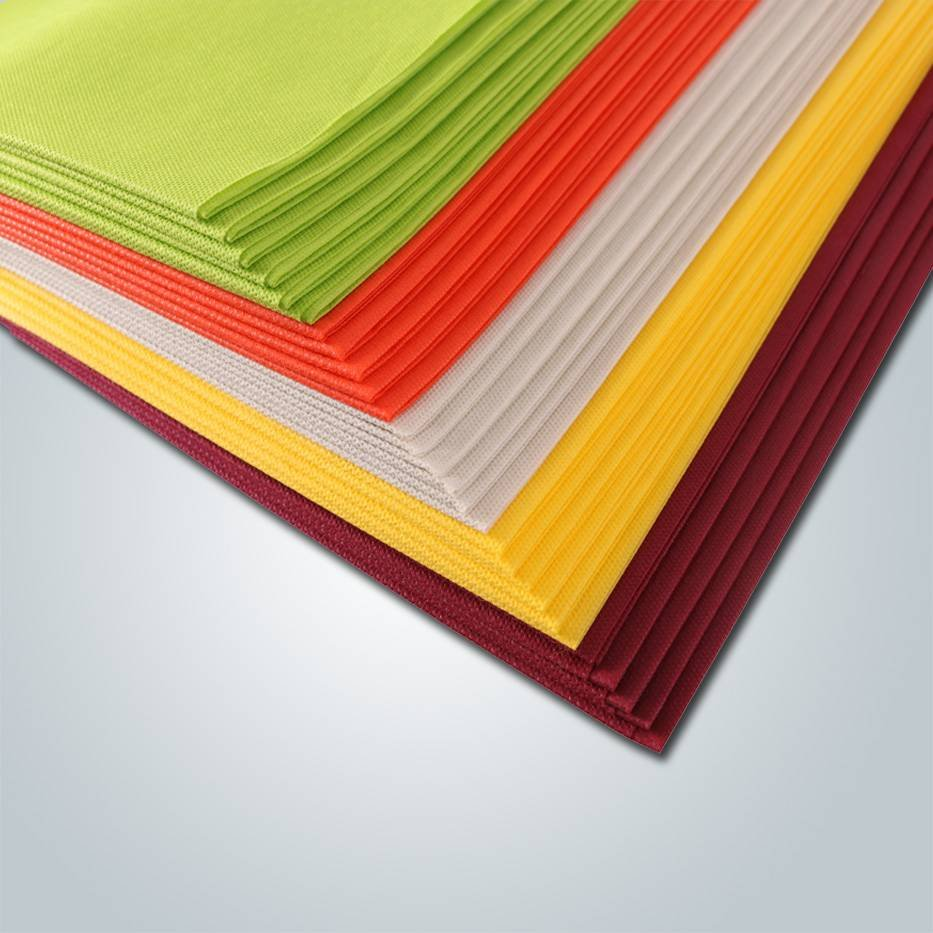 rayson nonwoven,ruixin,enviro 60gsm non woven fabric table cover with many colors / wedding tablecloth Non Woven Tablecloth image176