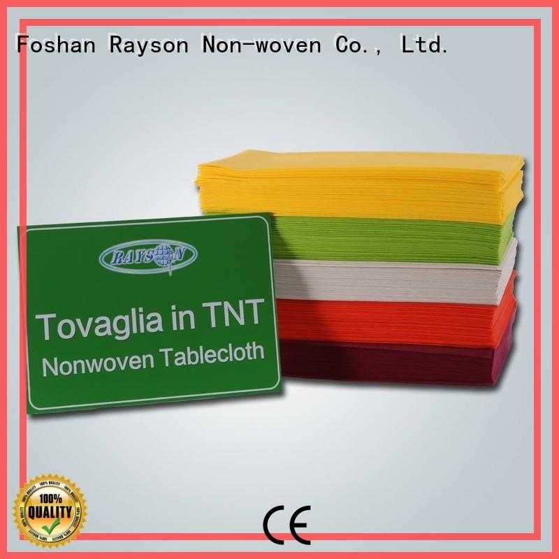 rayson nonwoven,ruixin,enviro clean round tablecloth sizes personalized for packaging