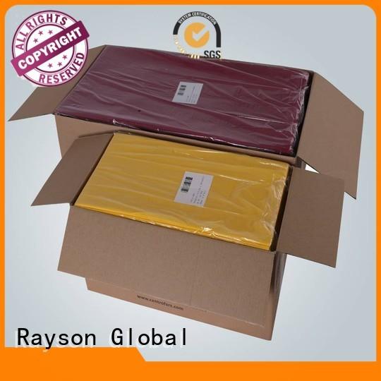 Quality rayson nonwoven,ruixin,enviro Brand cotton non woven tablecloth
