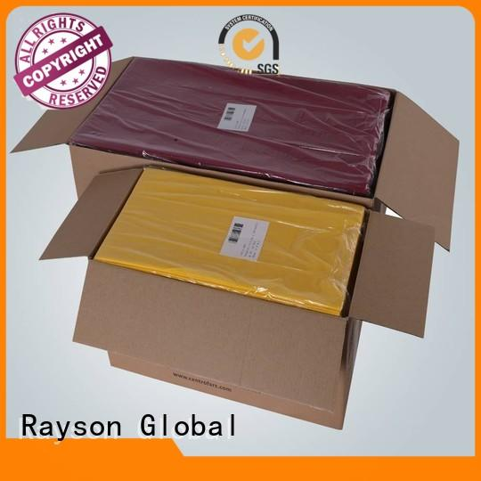Quality rayson nonwoven,ruixin,enviro Brand cotton non woven tablecloth