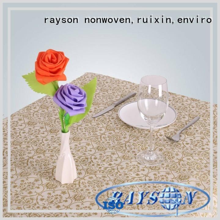 Quality rayson nonwoven,ruixin,enviro Brand non woven cloth color
