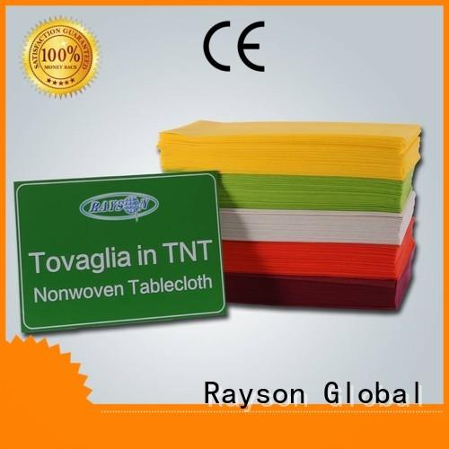 non woven cloth pvc bordeaux customized rayson nonwoven,ruixin,enviro Brand non woven tablecloth