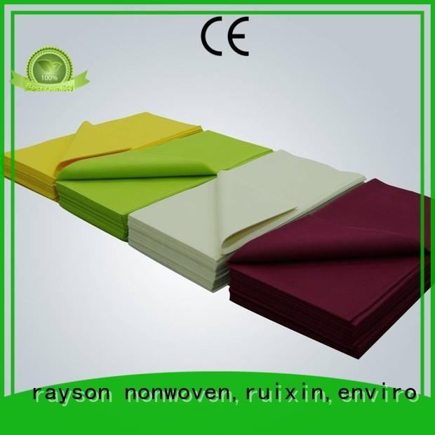 Rayson non-tissé, ruixin, enviro dégradable vert nappe directement vente pour nappe