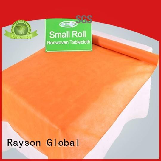 rayson nonwoven,ruixin,enviro retail waterproof tablecloth factory for packaging
