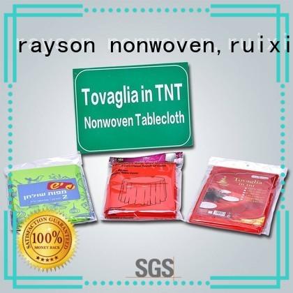 wedding pvc pp non woven tablecloth one rayson nonwoven,ruixin,enviro Brand