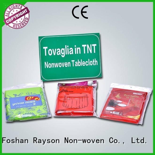 Non toxique table ronde couvre tranches directement vente pour nappe