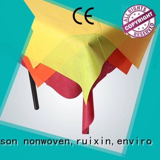 40g spun certificate non woven tablecloth rayson nonwoven,ruixin,enviro