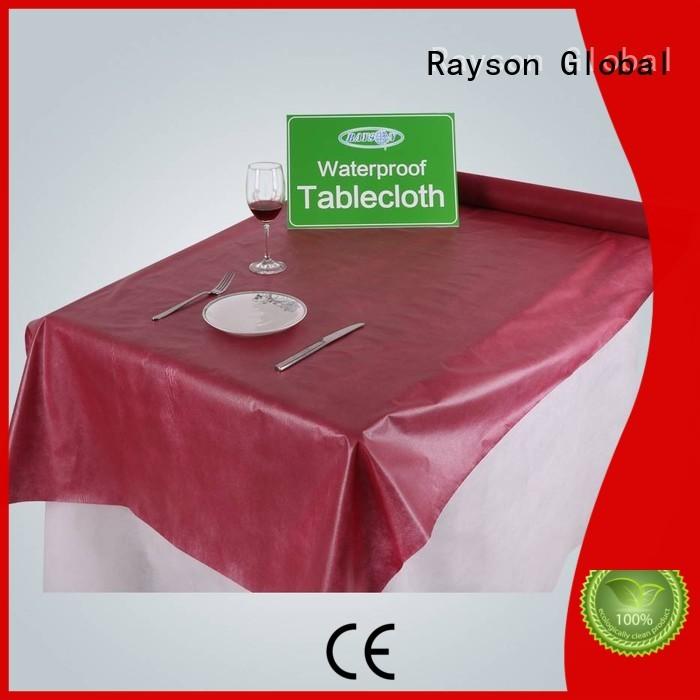 rayson nonwoven,ruixin,enviro Brand beer accepted non woven tablecloth manufacture