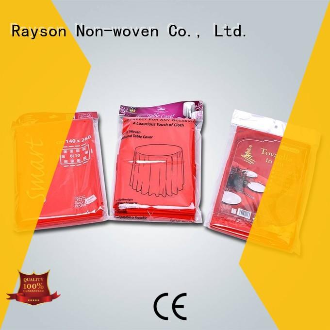 rayson nonwoven,ruixin,enviro pe polypropylene material factory for tablecloth