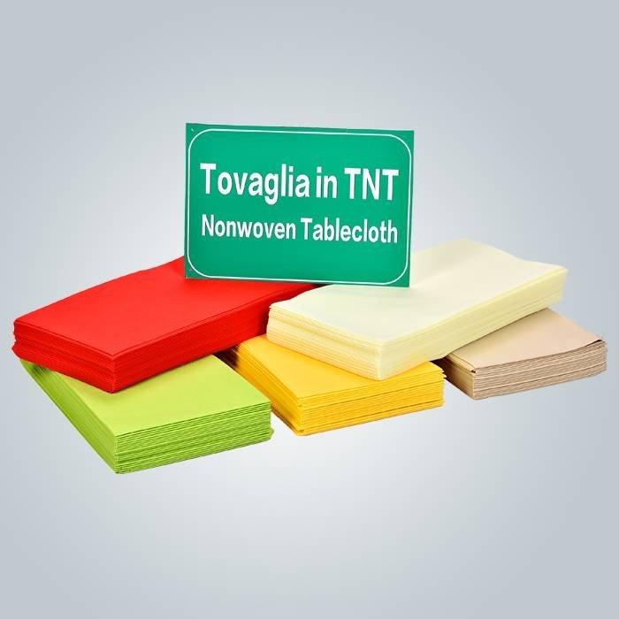 Monouso no tejido mantel en TNT tela exterior estable uniformidad desechables tela 1 m * 1 m
