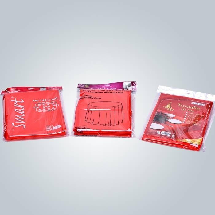 TNT não tecido tabela tampa descartável rolo pequeno Spunbond PP toalhas de tecido não tecido