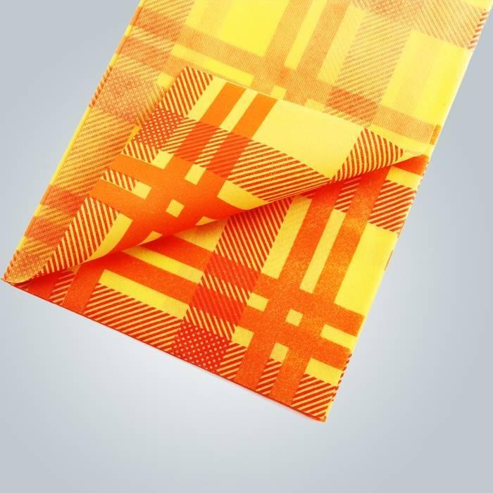 طباعة النسيج العقيمة مفارش المائدة غير المنسوجة مفرش 45gsm 50gsm 70gsm