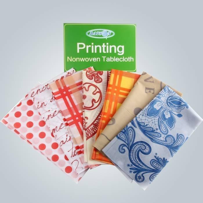 Impresso a tampa da mesa de TNT Hotel / escola uso Non tecido toalha de mesa com embalado independente