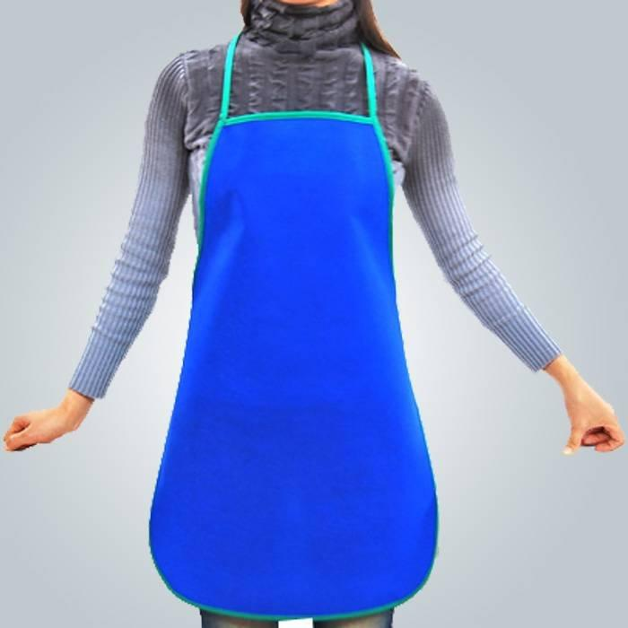 Eco - friendly Red Green Non Woven Apron One Time Use for Dining Tables