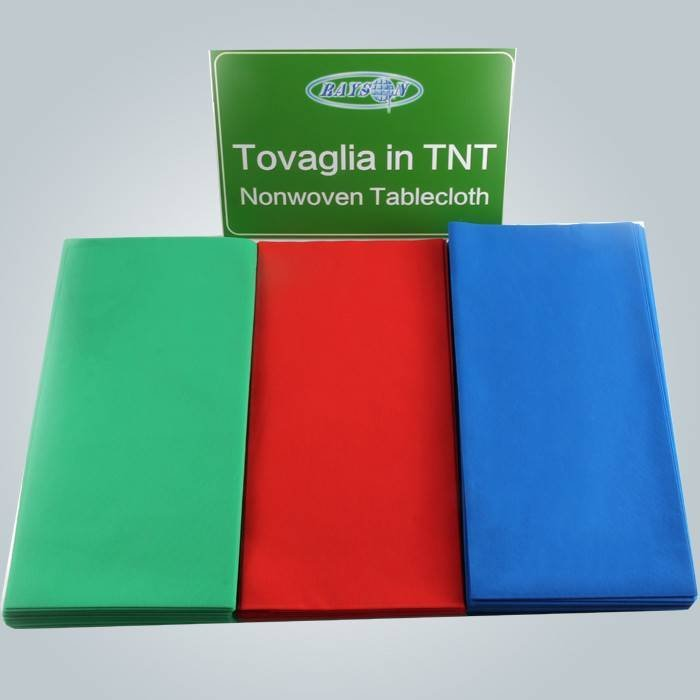विभिन्न रंगों में 45 जीएसएम कटौती टीएनटी डिस्पोजेबल टेबल कवर