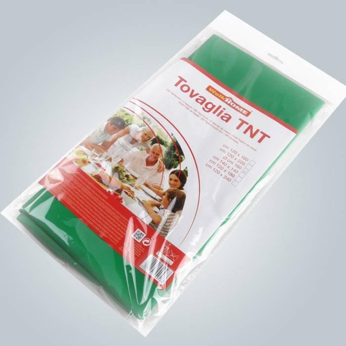 Paket im Poly-Beutel mit Farbpapier nicht gewebte Tischdecke