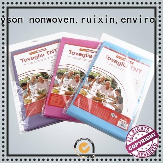 non woven cloth 100x100cm oval non woven tablecloth without rayson nonwoven,ruixin,enviro Brand