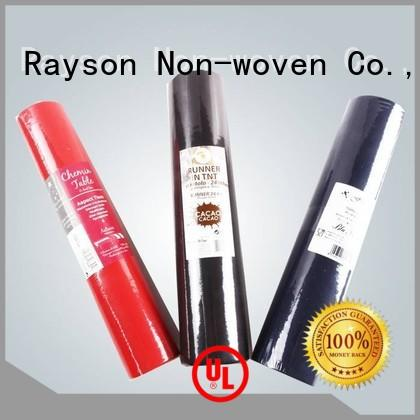 rayson nonwoven,ruixin,enviro Brand one table free disposable table cloths