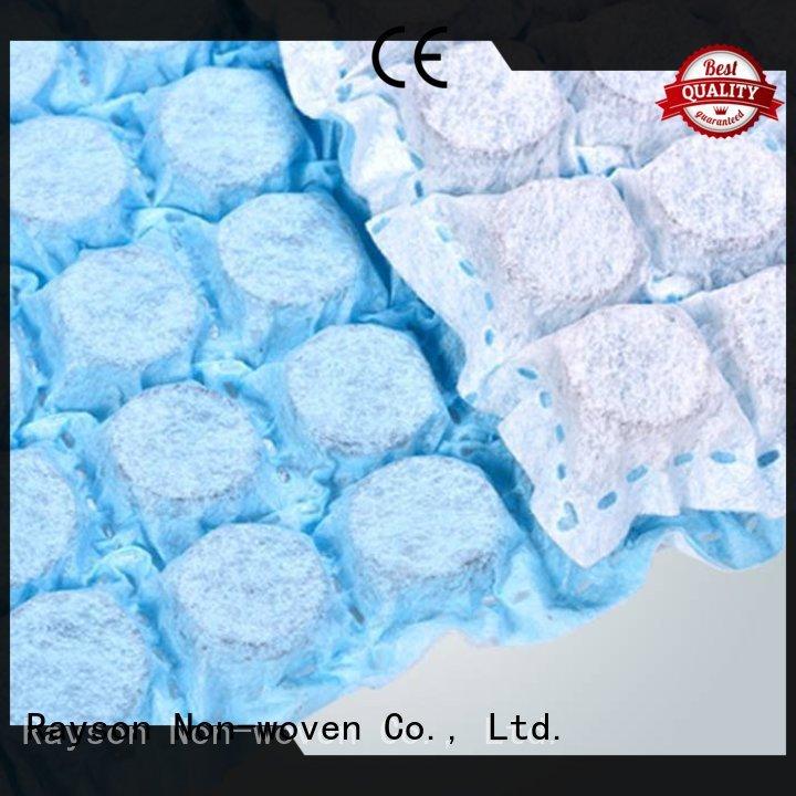 Rayson non-tissé, ruixin, enviro materical non tissé tissus liste série pour emballage