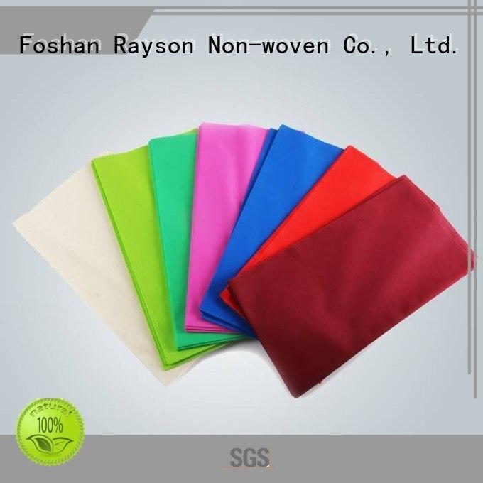 Custom square non woven tablecloth manufactuer rayson nonwoven,ruixin,enviro