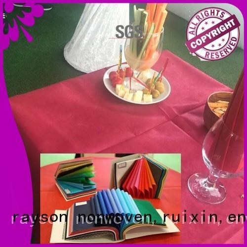 rayson nonwoven,ruixin,enviro Brand differet ecofriendly non woven cloth rstc02 supplier