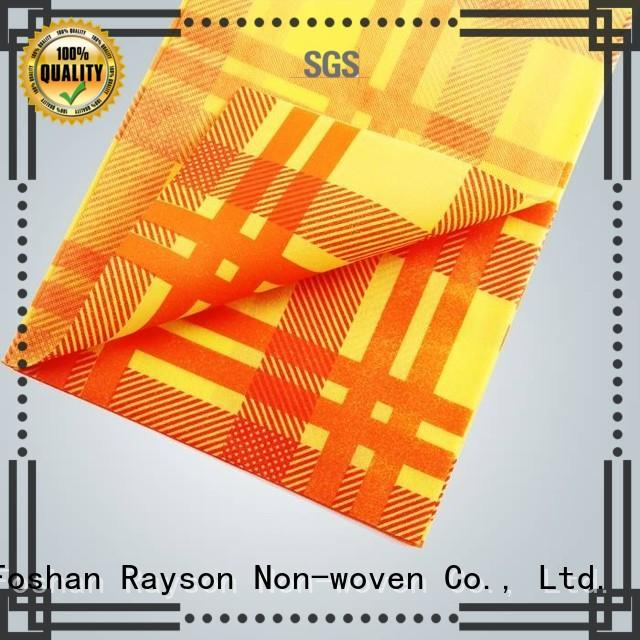 rayson nonwoven,ruixin,enviro printed printed tablecloth manufacturer for party