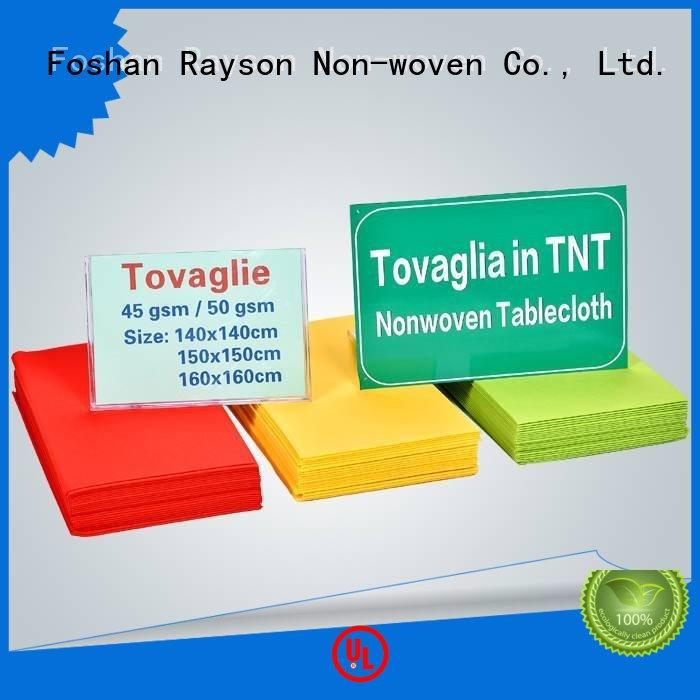 50gsm 120cm distance tnt tablecloth red rayson nonwoven,ruixin,enviro Brand