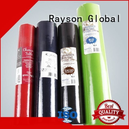 Hot disposable table cloths pink rayson nonwoven,ruixin,enviro Brand