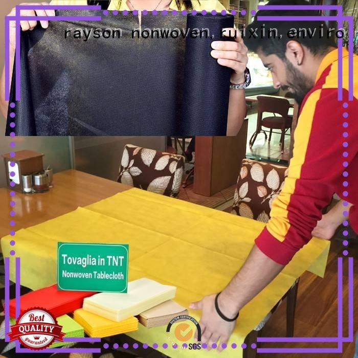 50g Custom plain non woven tablecloth mult rayson nonwoven,ruixin,enviro