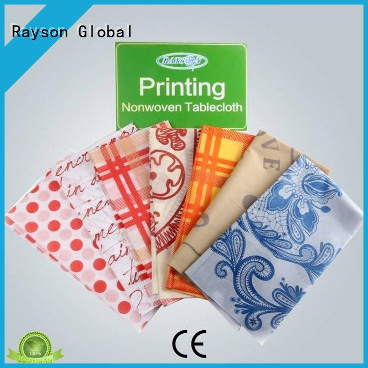 rayson nonwoven,ruixin,enviro customers tablecloth with logo printed manufacturer for home