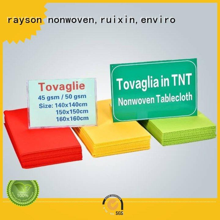 rayson nonwoven,ruixin,enviro 45gr non woven cloth suppliers manufacturer for clothes