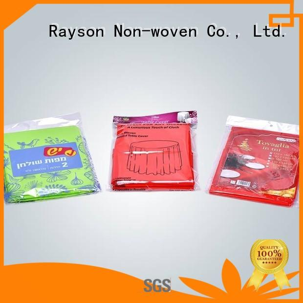 woven tablecloths making non woven fabric tablecloth rayson nonwoven,ruixin,enviro Brand company