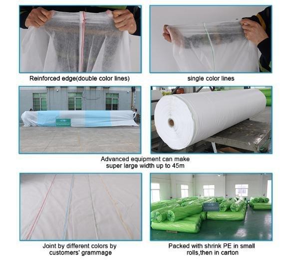 Rayson vlies, ruixin, enviro extra breiten wasser durchlässigen landschaft stoff fabrik preis für geschäfte