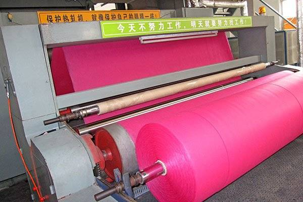 Making non woven fabric for packaging