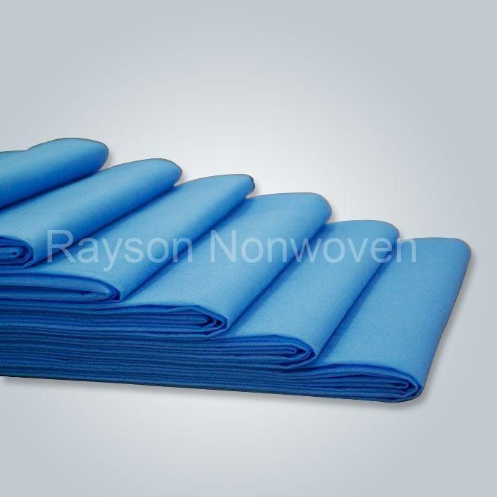 ヨーロッパ市場で 100% ポリプロピレン不織布 populared 製 45gsm 防水医療シーツ