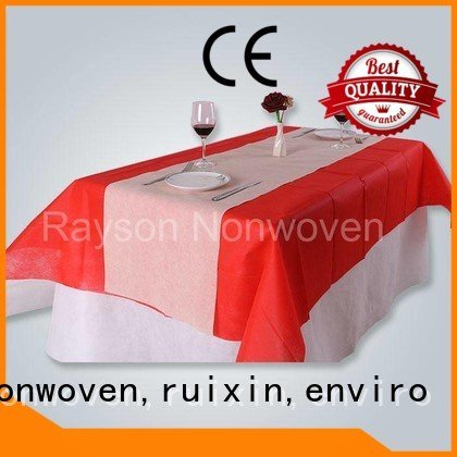 Custom mx14 non woven tablecloth 140x140cm rayson nonwoven,ruixin,enviro
