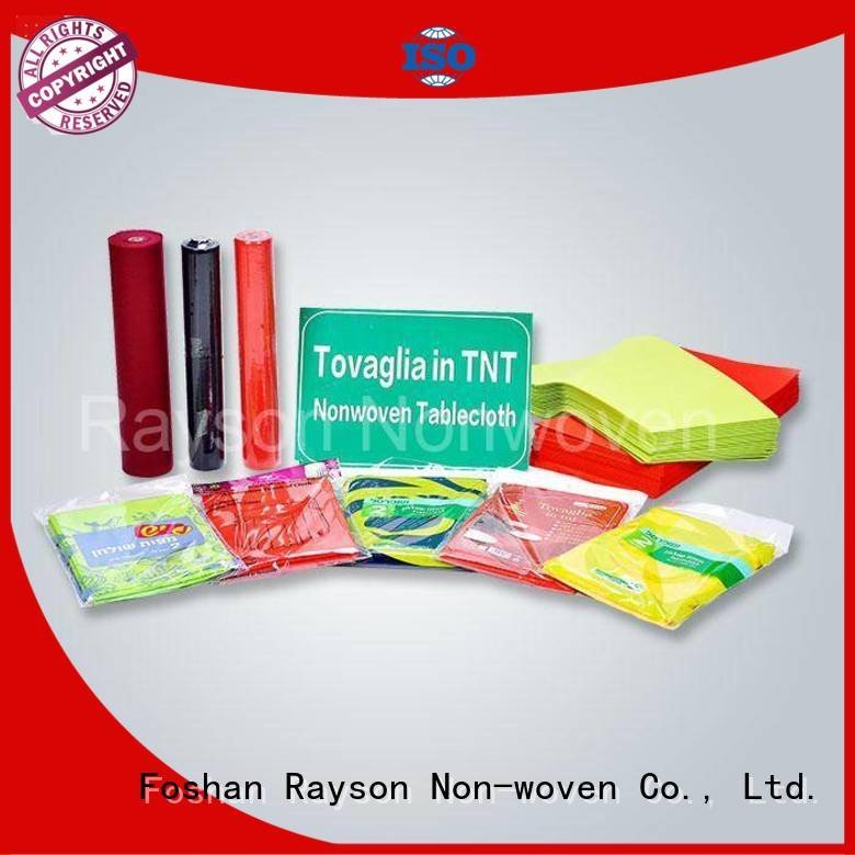 Wholesale orange non woven tablecloth rayson nonwoven,ruixin,enviro Brand