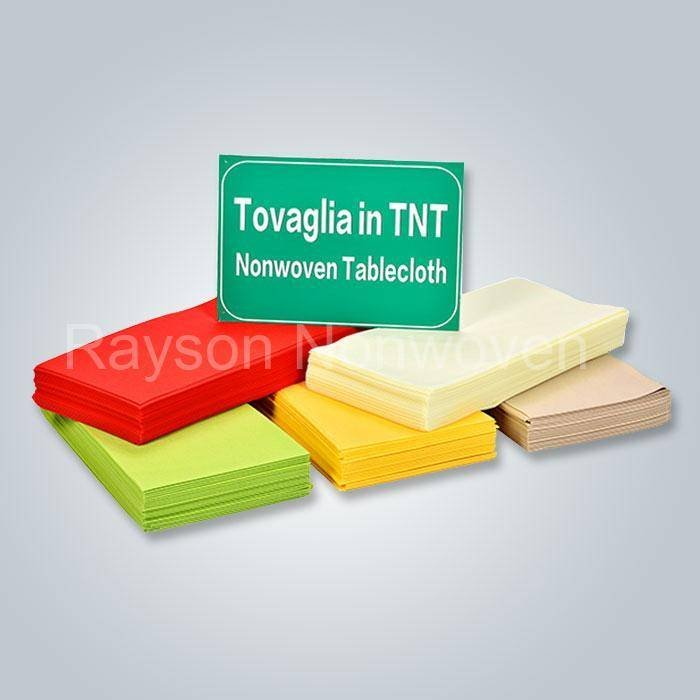 OEKO Tovaglia Tessuto non tessuto monouso OEKO TEX certificato per festa di nozze, hotel RS-TC01