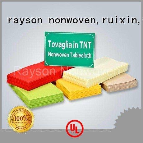 Custom six non woven tablecloth flower rayson nonwoven,ruixin,enviro