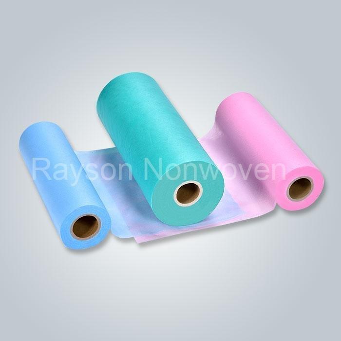 Mejor venta de sábanas de hospital desechable polipropileno 100% tela no tejida en china