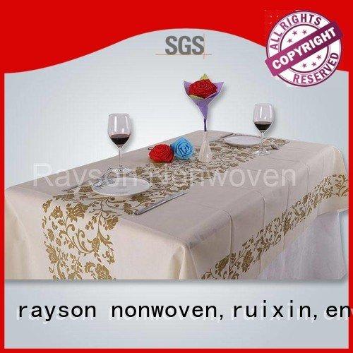tissu non standard tissé différent différent non-tissé de rayson, ruixin, marque d'Enviro