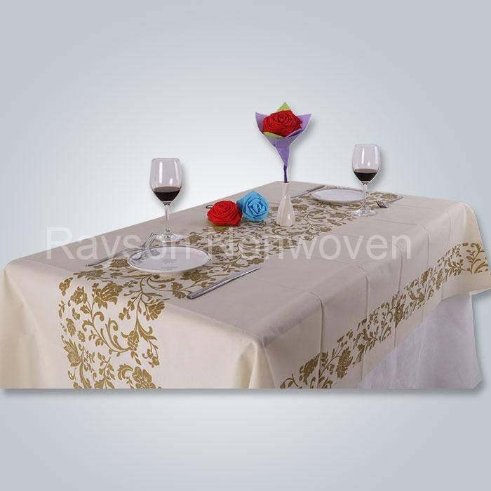 मुद्रित टीएनटी मेज़पोश, विभिन्न spunbond गैर बुना टेबल कवर रु-TC03 रंग RS-TC03