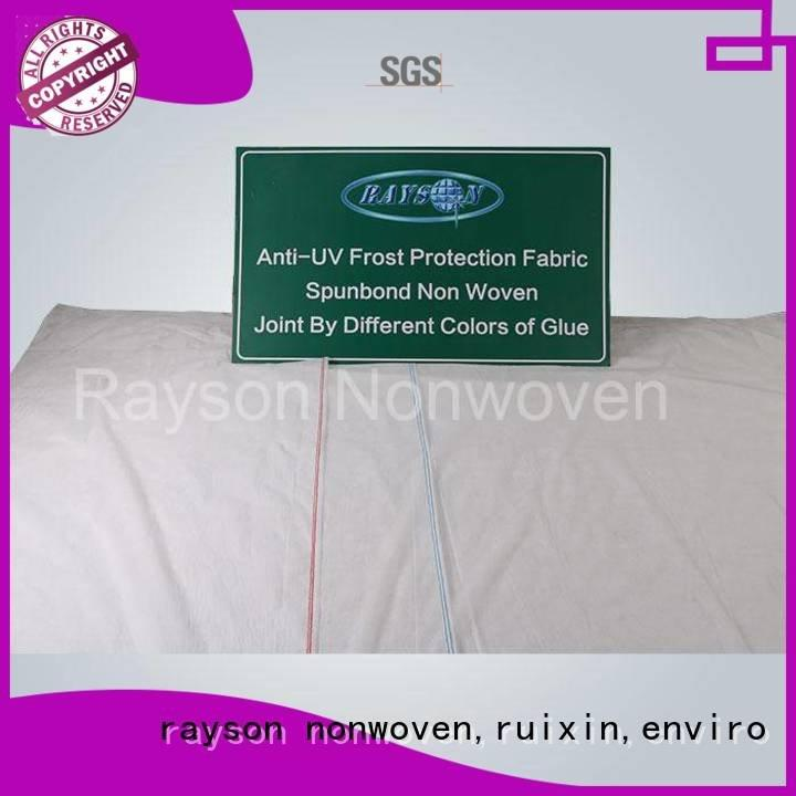 rayson nonwoven,ruixin,enviro Brand tnt biodegradable landscape fabric surpress factory