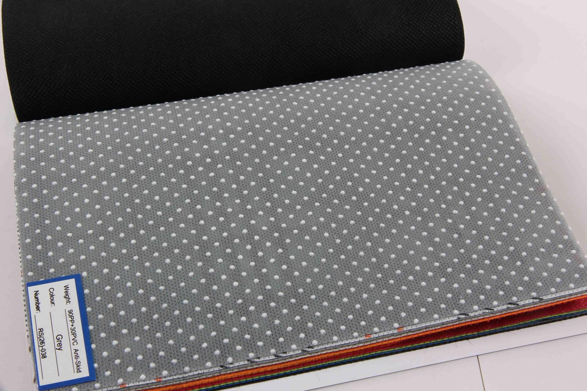 Nonwoven kumaş widly mobilya kullanılan gri ve bej anti slip