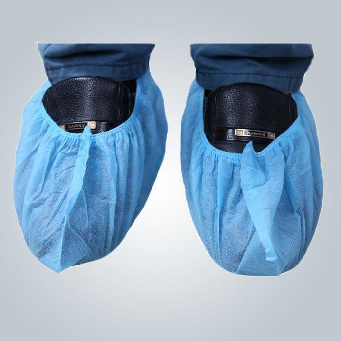 PP Spunbond محبوكة للطب من الأحذية / غطاء أحذية اللون الأزرق